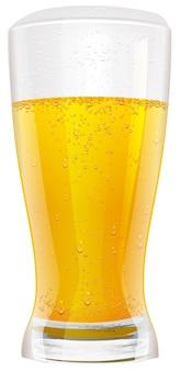 Bière blonde en verre