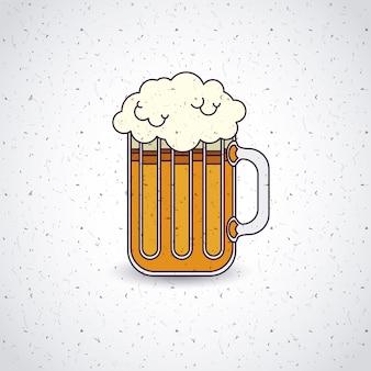 Bière boisson ale allemagne vector illustration design