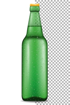 Bière en bouteille sur transparent