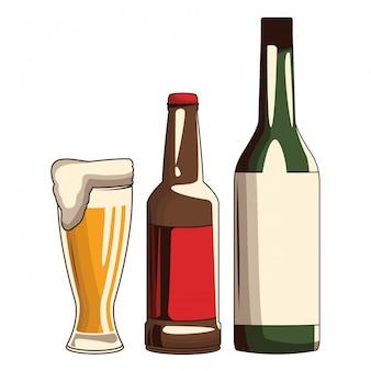 Bière et bouteille