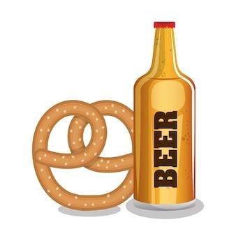 Bière et bretzels nourriture tradicional oktoberfest