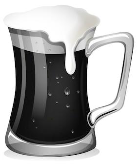 Bière fraîche en noir et blanc