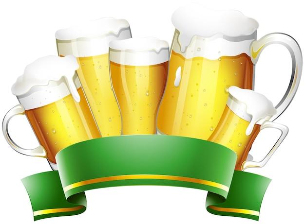 Bière fraîche en pots