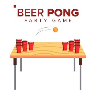 Bière pong jeu