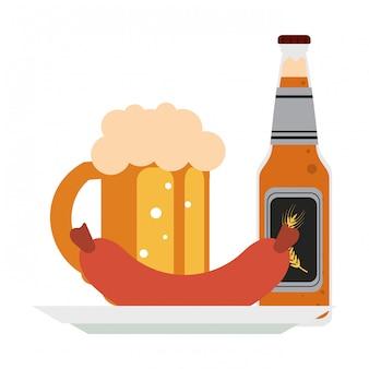 Bière et saucisse