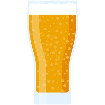 Bière en verre vector illustration isolé icône sur blanc