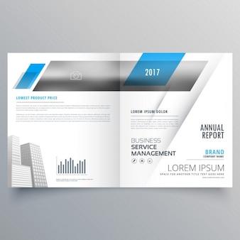Bifold d'affaires page de couverture magazine livret design moderne