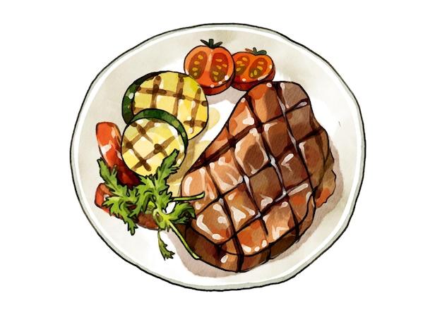 Bifteck Vecteur Premium