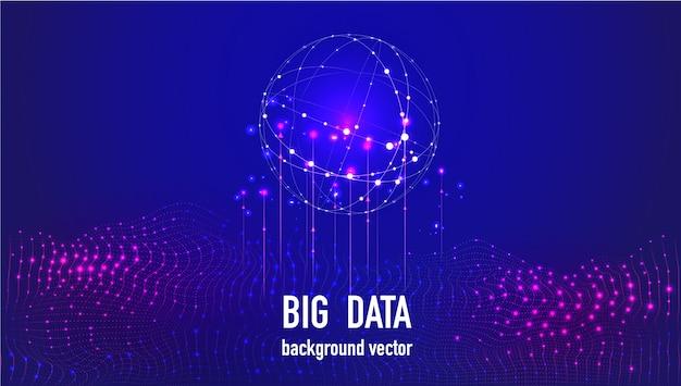 Big data abstrait.