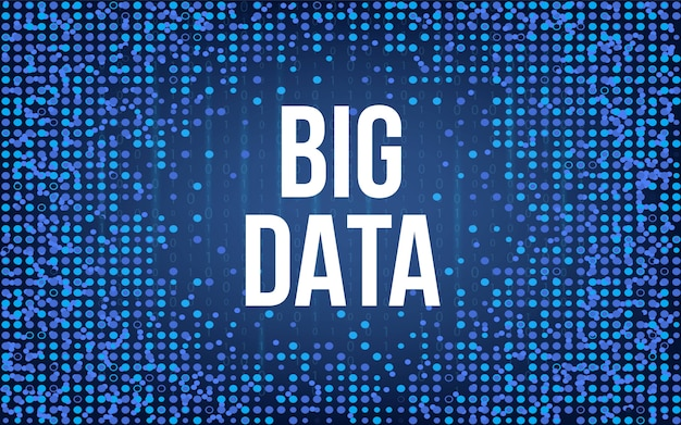 Big data analyse de l'information de fond.