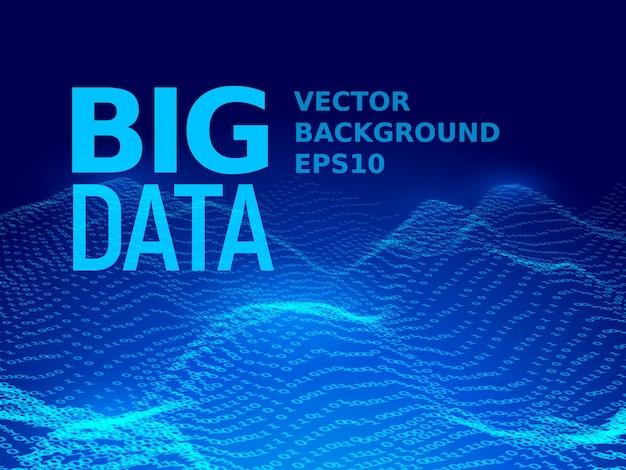 Big data. arrière-plan de code binaire