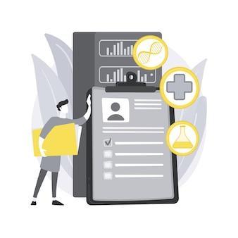 Big data dans les soins de santé. médecine personnalisée, soins aux patients, analyse prédictive, dossiers de santé électroniques, recherche pharmaceutique.