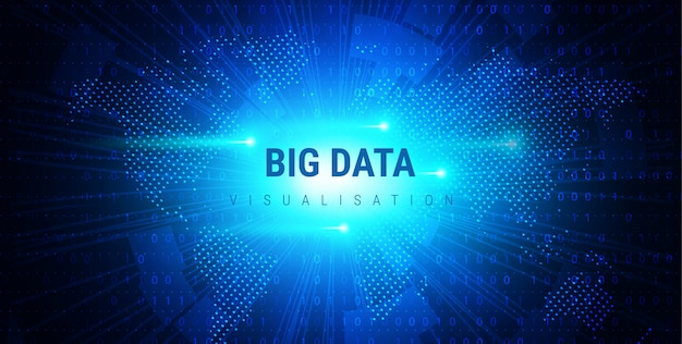 Big data. design esthétique graphique futuriste. complexité visuelle de l'information. tracé des threads de données complexes. représentation de l'analyse commerciale. grille fractale des points d'onde. visualisation sonore.