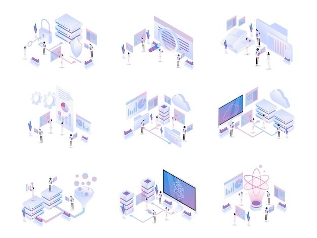 Big data isometric set