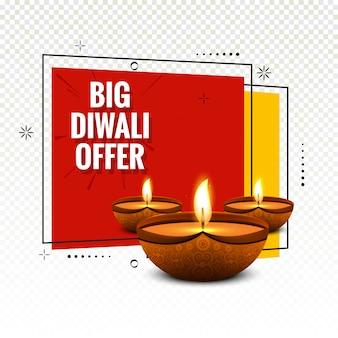 Big diwali festival offre vecteur de fond