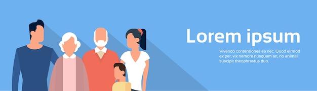 Big family kids parents génération des grands-parents