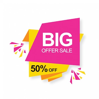 Big offer sale 50% de réduction bannière