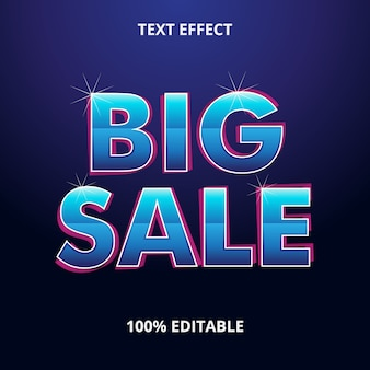 Big sale text effect premium eps
