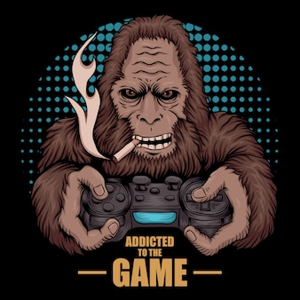 Bigfoot accro au jeu