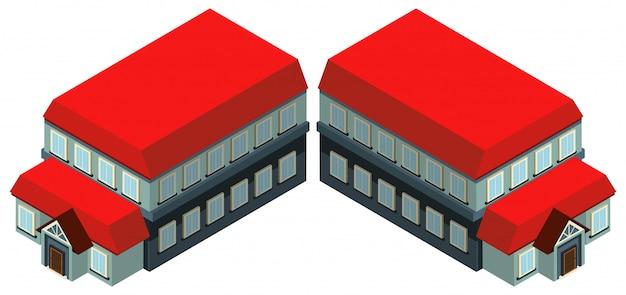 Bigh bâtiment avec toit rouge