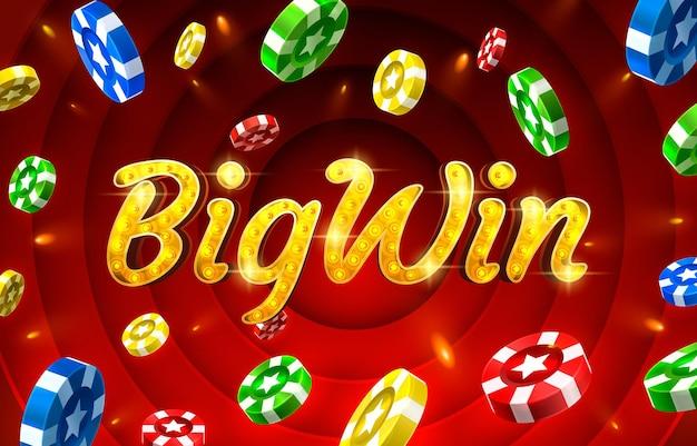 Bigwin slots icônes slot sign machine nuit vegas vecteur