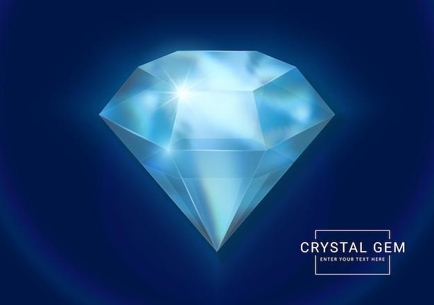 Bijou fantaisie en cristal en pierre de forme polygonale