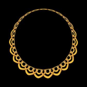 Bijoux de chaîne en or isolé