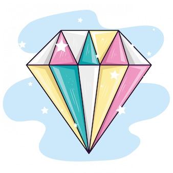 Bijoux en diamant mignon avec décoration d'étoiles