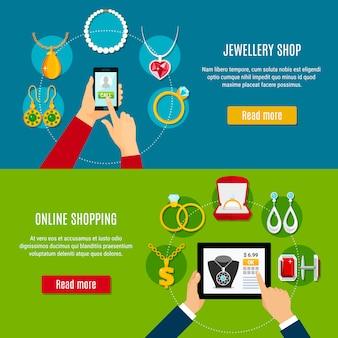 Bijoux shop online bannières horizontales