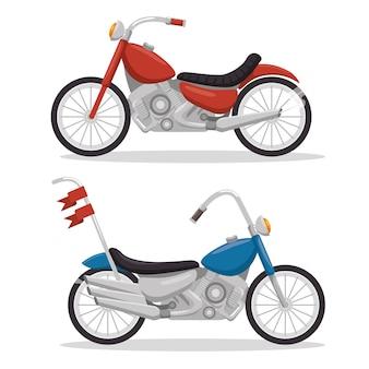 Biker de moto vintage classique