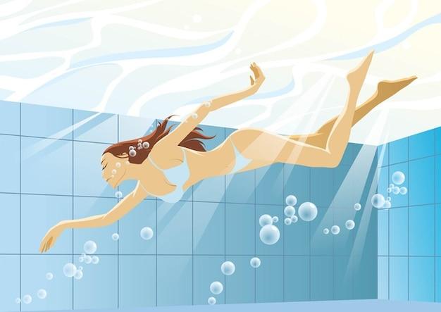 Bikini girl natation