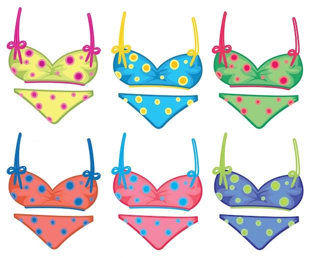 Bikinis en pointillés colorés
