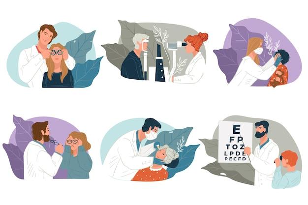 Bilan chez l'ophtalmologiste, soins de la vue et examen de la vue par des spécialistes