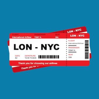 Billet d'avion voyage carte d'embarquement aéroport. départ du coupon de la carte de vol de voyage d'affaires.