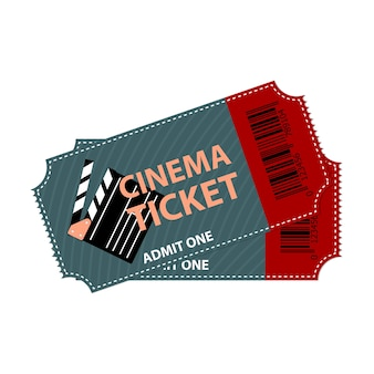 Billet de cinéma isolé. concept de design de coupon de film.