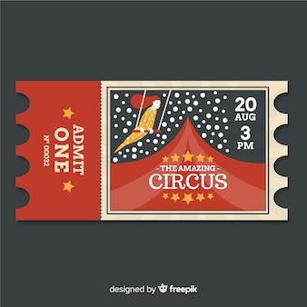 Billet de cirque vintage
