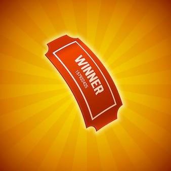 Billet de loterie gagnant eps 10