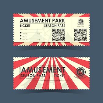 Billet pour parc d'attractions