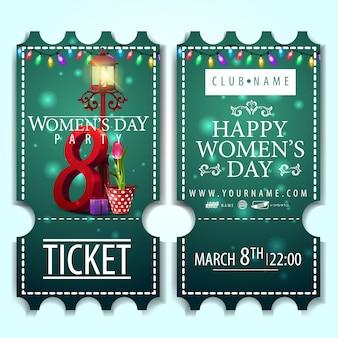 Billet vert pour la fête des femmes