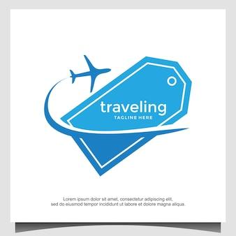 Billet de voyage logo de vacances