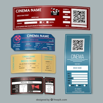 Billets de cinéma designs
