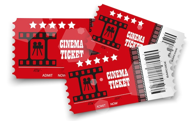 Billets de cinéma isolés