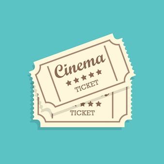Billets de cinéma rétro