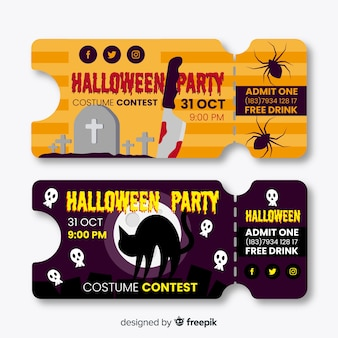 Billets design halloween