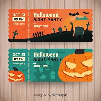 Billets de halloween modernes