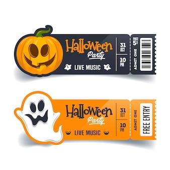 Billets d'invitation à la fête d'halloween