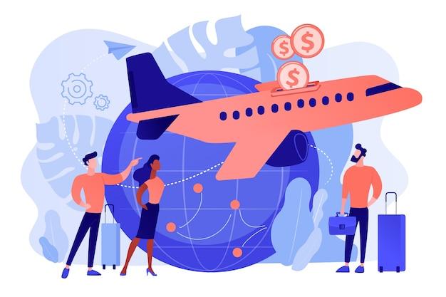 Billets Pas Chers Pour Le Transport Aérien. Offres De Vols De Dernière Minute économiques Vecteur gratuit