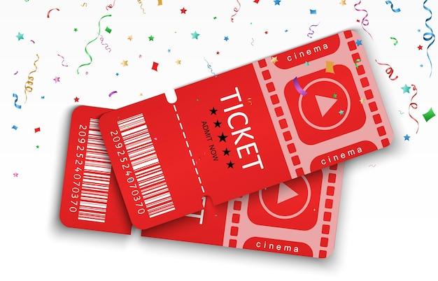 Billets pour assister à un événement ou à un film sur fond transparent beaux dépliants de voyage modernes