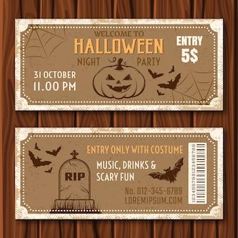 Billets pour la fête d'halloween