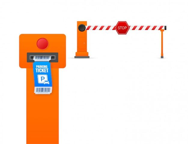 Billets de stationnement, super design pour toutes fins. station de paiement de stationnement. illustration de stock.